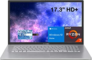 2021 ASUS VivoBook Ultra Thin and Light 17.3'' 1600x900 Laptop Ryzen 7 3700U Processor up to 4.0GHz, 20GB RAM 1TB PCIe SSD, AMD Radeon RX Vega 10 Graphics, Webcam, HDMI, Windows 10H, E.S. 32GB USB