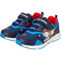 Nickelodeon Boys' Paw Patrol Sneakers - Hook and Loop LED Light Up Running Shoes (Toddler/Little Kid)