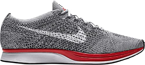 fe411e6cf996 ... get amazon nike flyknit racer 526628 013 wolf grey white platinum mens  running shoes size 9.5