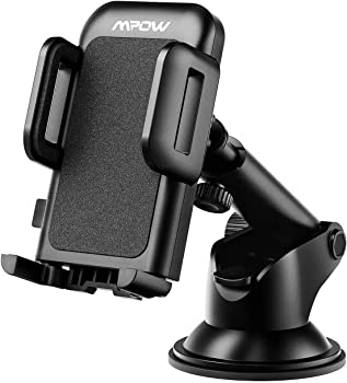 Mpow Car Phone Mount,CD Slot Car Phone Holder Universal Car Cradle Mount with Three-Side Grips and One-Touch Design for iPhone X/8/8Plus/7/7Plus/6s/6P/5S,...