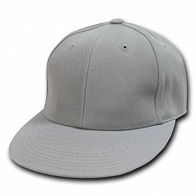 9f9a6e214e9 Decky Orgianl GREY Retro Fitted Baseball Caps - 7-1 8 - at Amazon ...