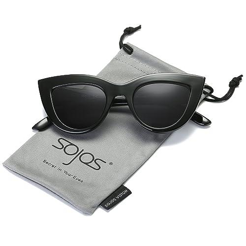 SojoS Moda Classic Celebrity Bold spessa delle signore delle donne di gatto occhiali da sole occhi S...