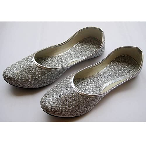 Silver Coin Ballet Flats/Silver Shoes/Wedding Shoes/Handmade Indian  Designer Women Shoes