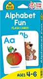 School Zone - Alphabet Fun Flash Cards - Ages 4 to 6, Preschool, Kindergarten, ABCs, Uppercase and Lowercase Letters, and Spelling