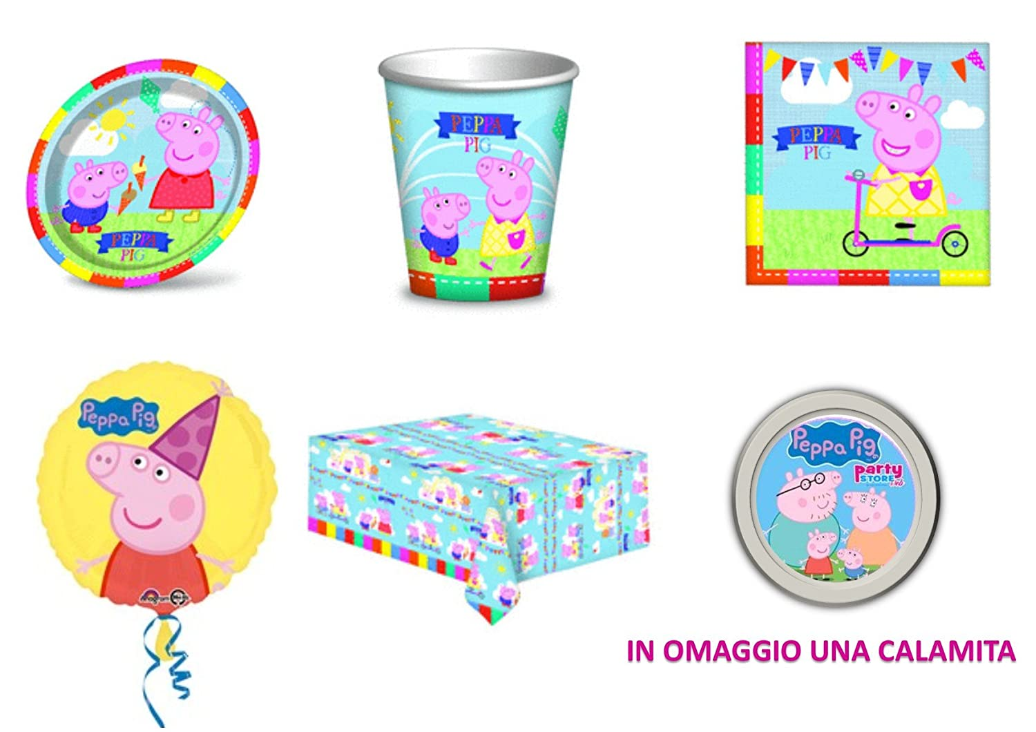 Party store web By Casa dolce casa Peppa Pig coordinato addobbi ...