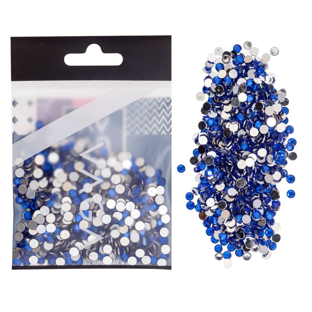 1000 pcs 4mm Flat Back Blue Crystals Rhinestones Jewels Nail Art Gems By VAGA®