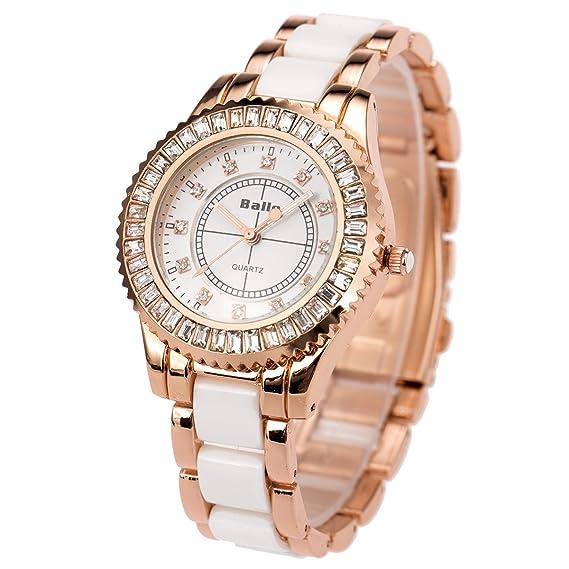 ab3d49a03 SIBOSUN Wrist Watch Japanese Quartz Lady Women Rose Gold Crystal Bracelet  Band Gorgeous Waterproof Analog
