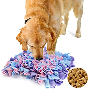 cocopet Dog Snuffle Mat Treat Food Puzzle Feeding Nosework Slow Feeder Training Eating Instinct Interactive Relieve Stress Games Restlessness Toys Non-Skid No Choking Machine Washable Pet Puppy Mat