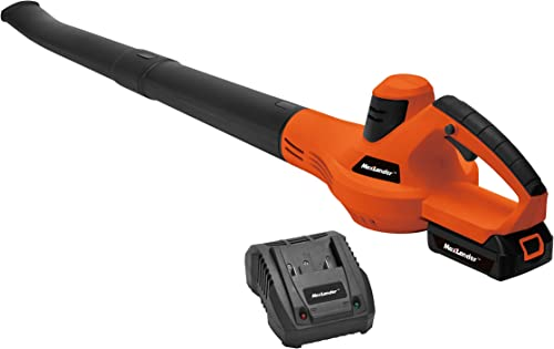 MaxLander Cordless Leaf Blower Sweeper Compact Battery Powered with 20V 2.0Ah Battery and Fast Charger 117CFM