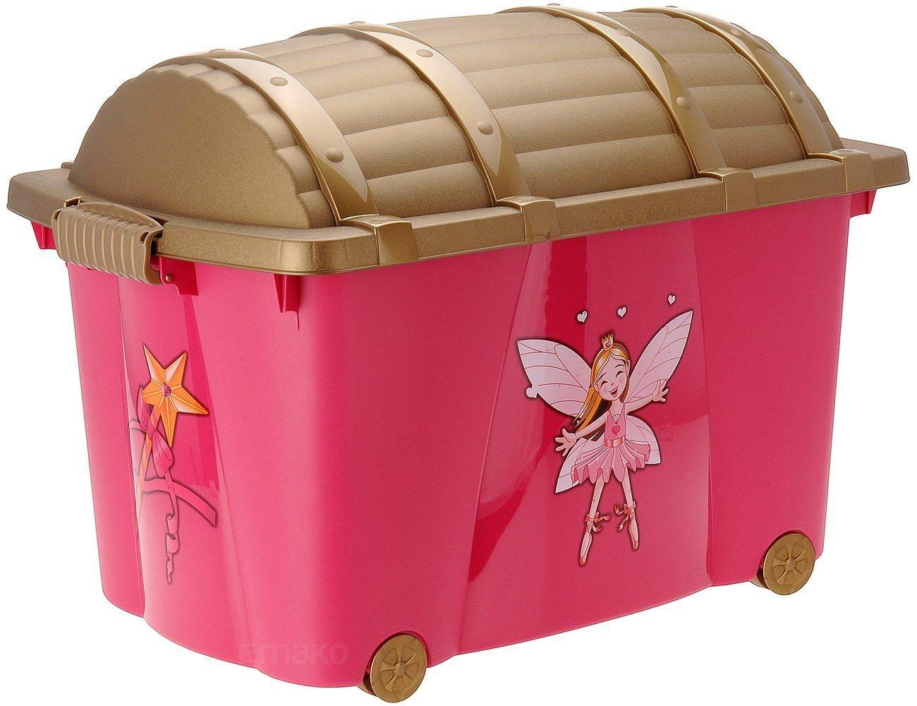 Baúl de almacenaje, caja de juguetes de pirata, caja con ruedas: Amazon.es: Hogar