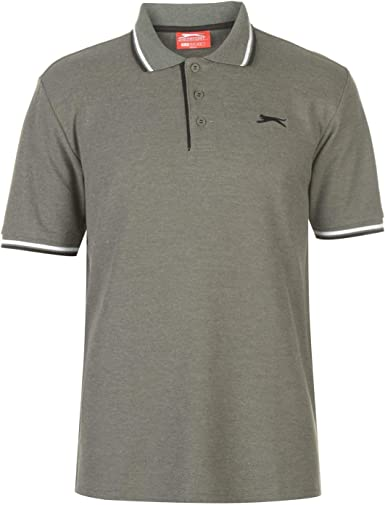 Slazenger Hombre Tipped Camiseta Polo Caqui Marga L: Amazon.es ...