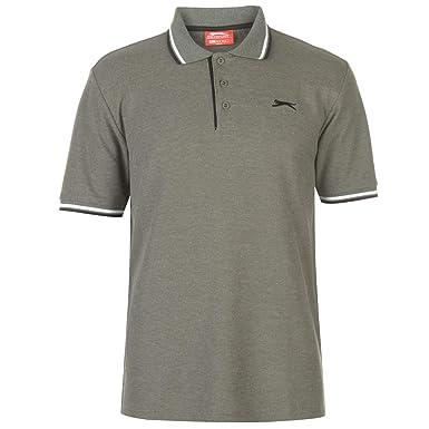 Slazenger Hombre Tipped Camiseta Polo Caqui Marga 3XL: Amazon.es ...