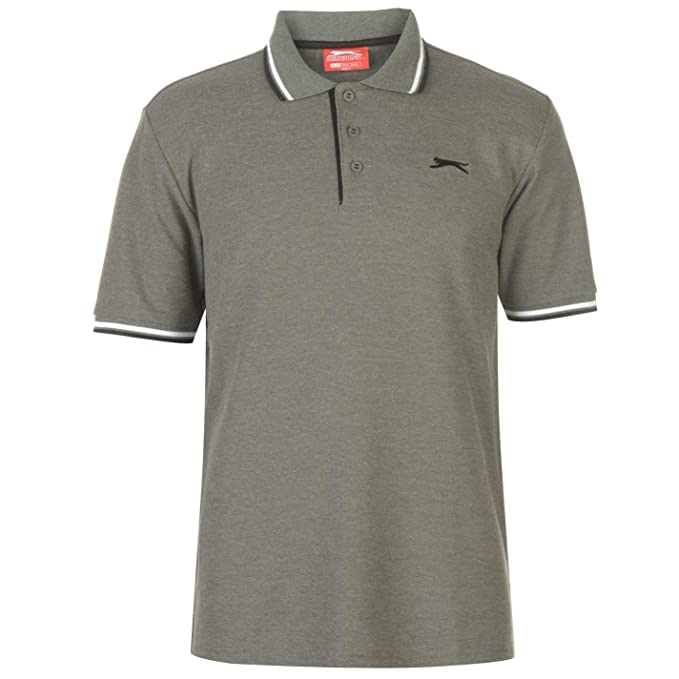Slazenger Hombre Tipped Camiseta Polo Caqui Marga L: Amazon.es ...