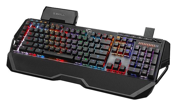 G SKILL RIPJAWS KM780 RGB On-the-Fly Macro Mechanical Gaming Keyboard,  Cherry MX Blue