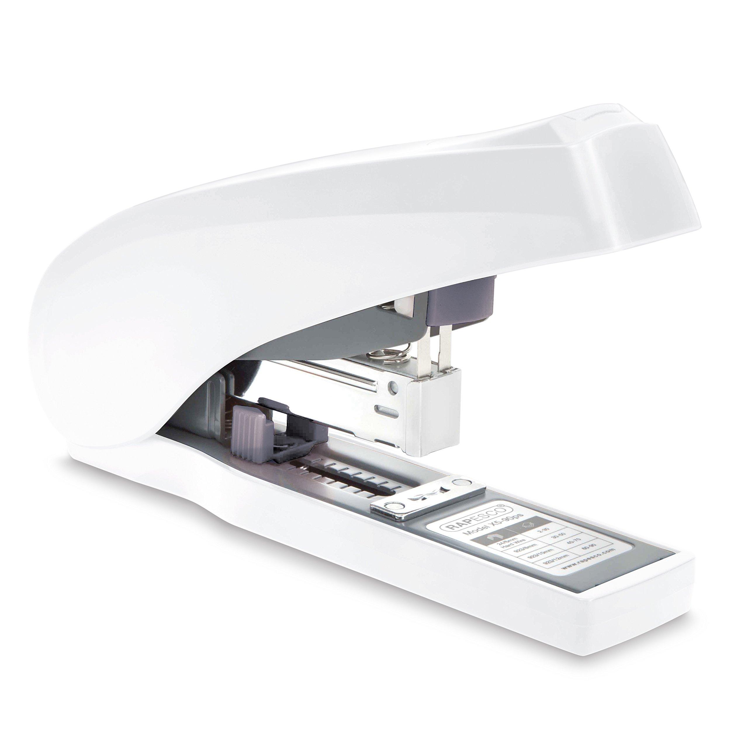 Rapesco ECO X5-90ps Less Effort Stapler - Soft White, 90 sheet (1400) by Rapesco