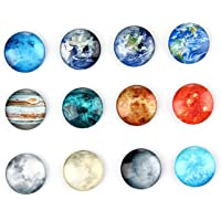Fridge Magnets Set, niceeshop(TM) 12pcs Planetary Pattern Refrigerator Magnets for Kitchen Decor, Magnetic Message Whiteboard, Office Cabinets