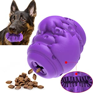 Dog Toys for Aggressive Chewers Large Breed, Interactive Chew Toy Food Dispenser for Medium Puppies, Extra Durable Indestructible 100% Natural Rubber,Heavy Duty Tough Chew Toy for Big Large Dogs