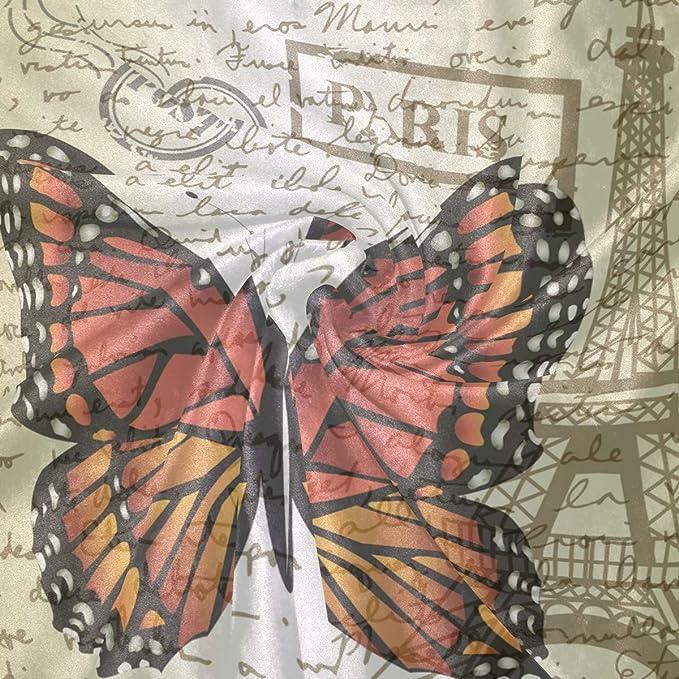 Amazon.com: TropicalLife Butterfly Paris Eiffel Tower Throw Blanket Soft Velvet Microfiber Gift Blankets 50 x 60 Inch All Season Decorative for Baby Kids ...