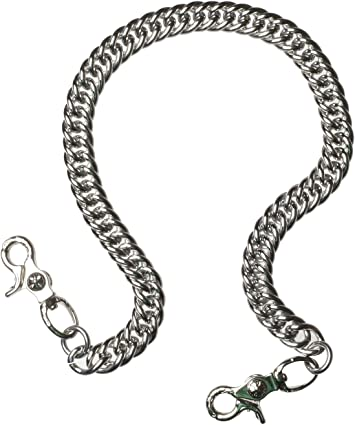 Ruth/&Boaz Angular Chain Stainless Steel Key Chain Wallet Chain