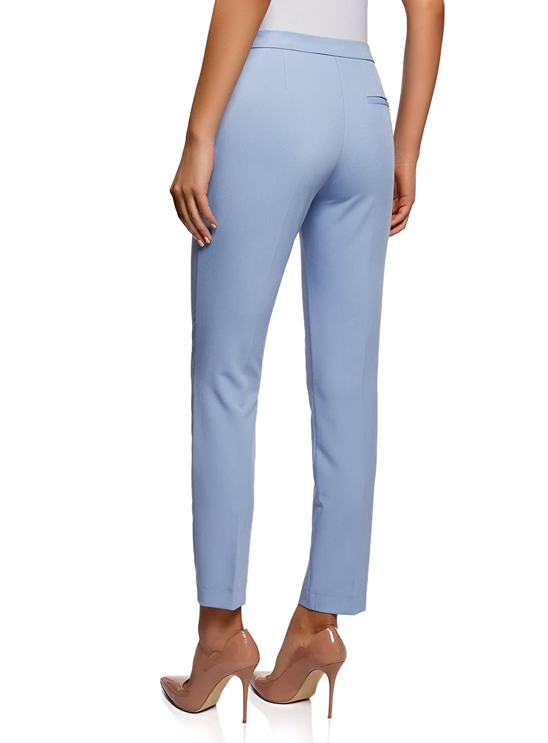 oodji Collection Womens Classic Slim-Fit Trousers