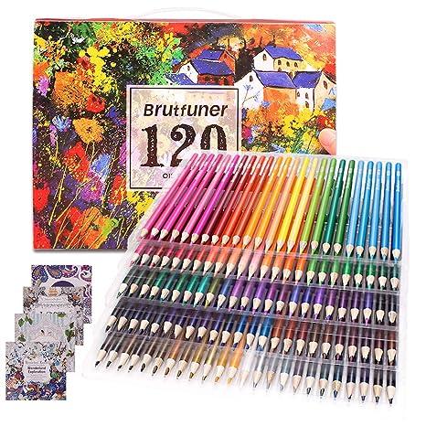 Colouring Pencils Adult Coloring Book Artist 120 Colour ...