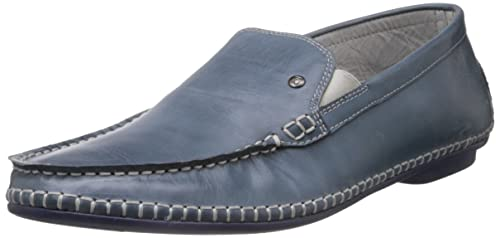 7846229add6 J Fontini (by Mochi) Men s Blue and Navy Leather Loafers and ...