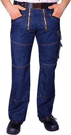 OYSTER Zunft-Hose Arbeits-Hose Jeans Stretch - blau - Größe: 106
