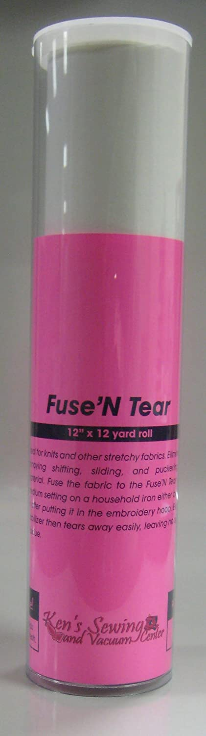 Fuse n Tear Iron On Embroidery Stabilizer 12 inch x 12 yard embroidery store h6301212k