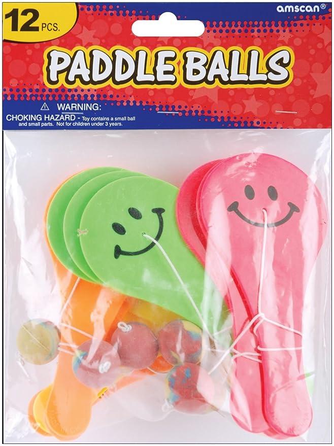 Amazon.com: Party Favors 12/pkg-paddle bolas: Arte ...