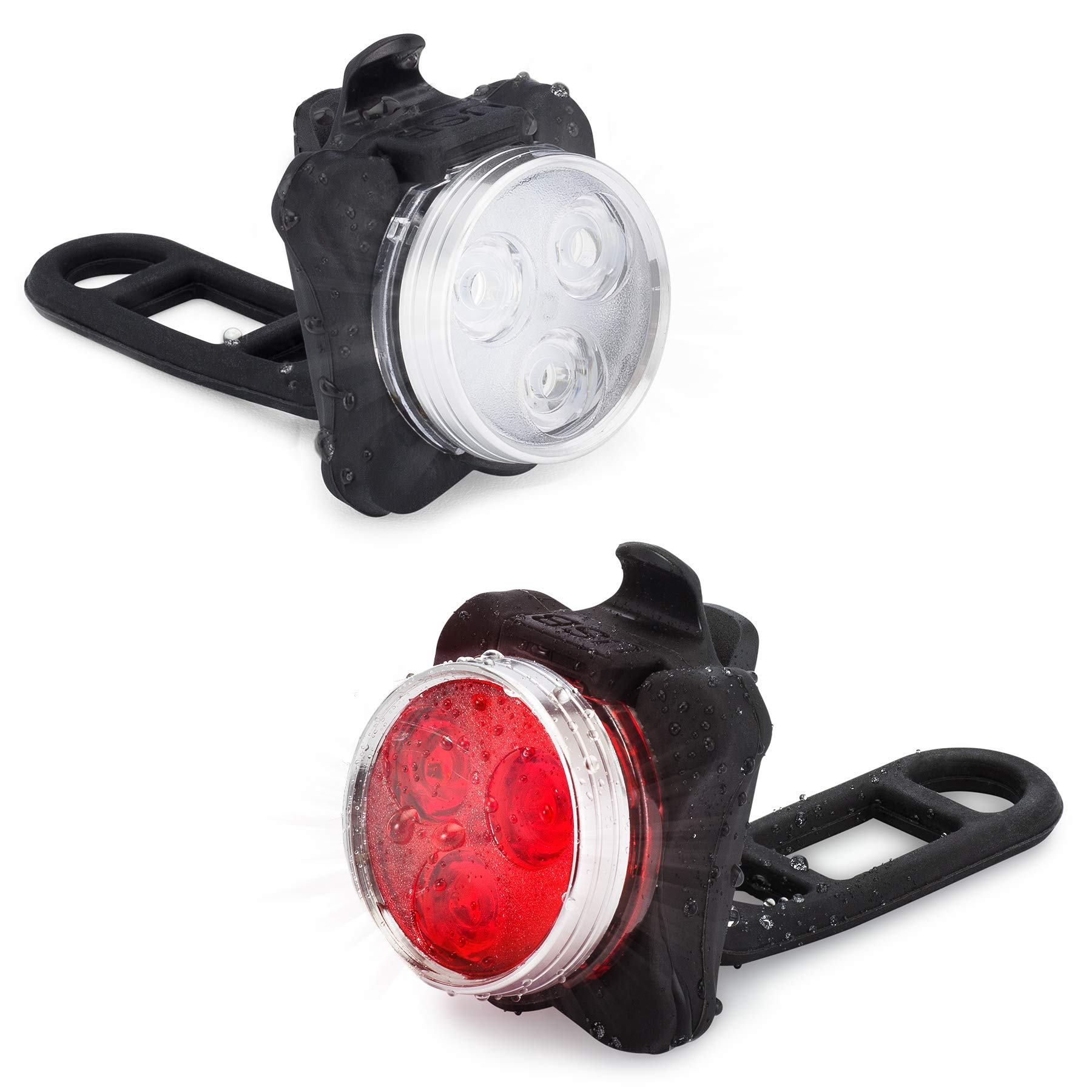 Vont USB Rechargeable Bike Light Set, Bright Front and Back Illumination, The Only LED Bicycle Light You'll Need. Super Long Battery Life, IPX4 Water Resistant, Lights, Accessories, 4 Different Modes