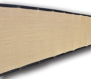 Alion Home Heavy Duty Privacy Screen Mesh for Backyard, Deck, Patio, Balcony, Fence. Beige (35'' x 50')