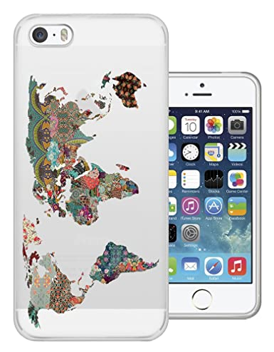 C0191 - Colourful Tropical World Map Design iphone 6 6S 4.7 ...