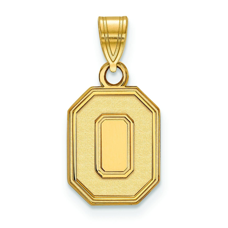 オハイオ州状態Small (1 / 2インチ) ペンダント(10 Kイエローゴールド)   B01IYETM02