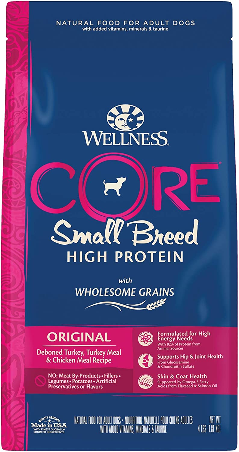 Wellness CORE Wholesome Grains Small Breed Dry Dog Food, Turkey & Oatmeal