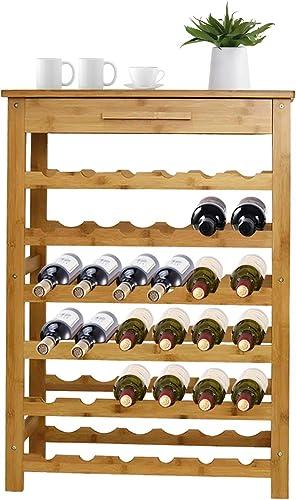 Kinbor 6-Tier Bamboo Wine Rack