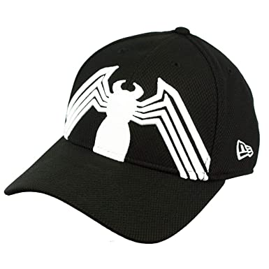 1eeb4b94fb87b Spider-Man Black Suit Armor with Kraven Lining 39Thirty Fitted Hat (LG XL