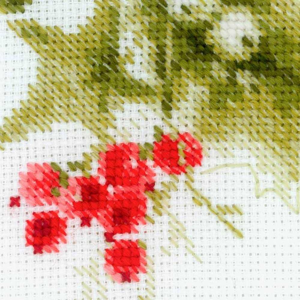 Poinsettia Counted Cross Stitch Kit RIOLIS