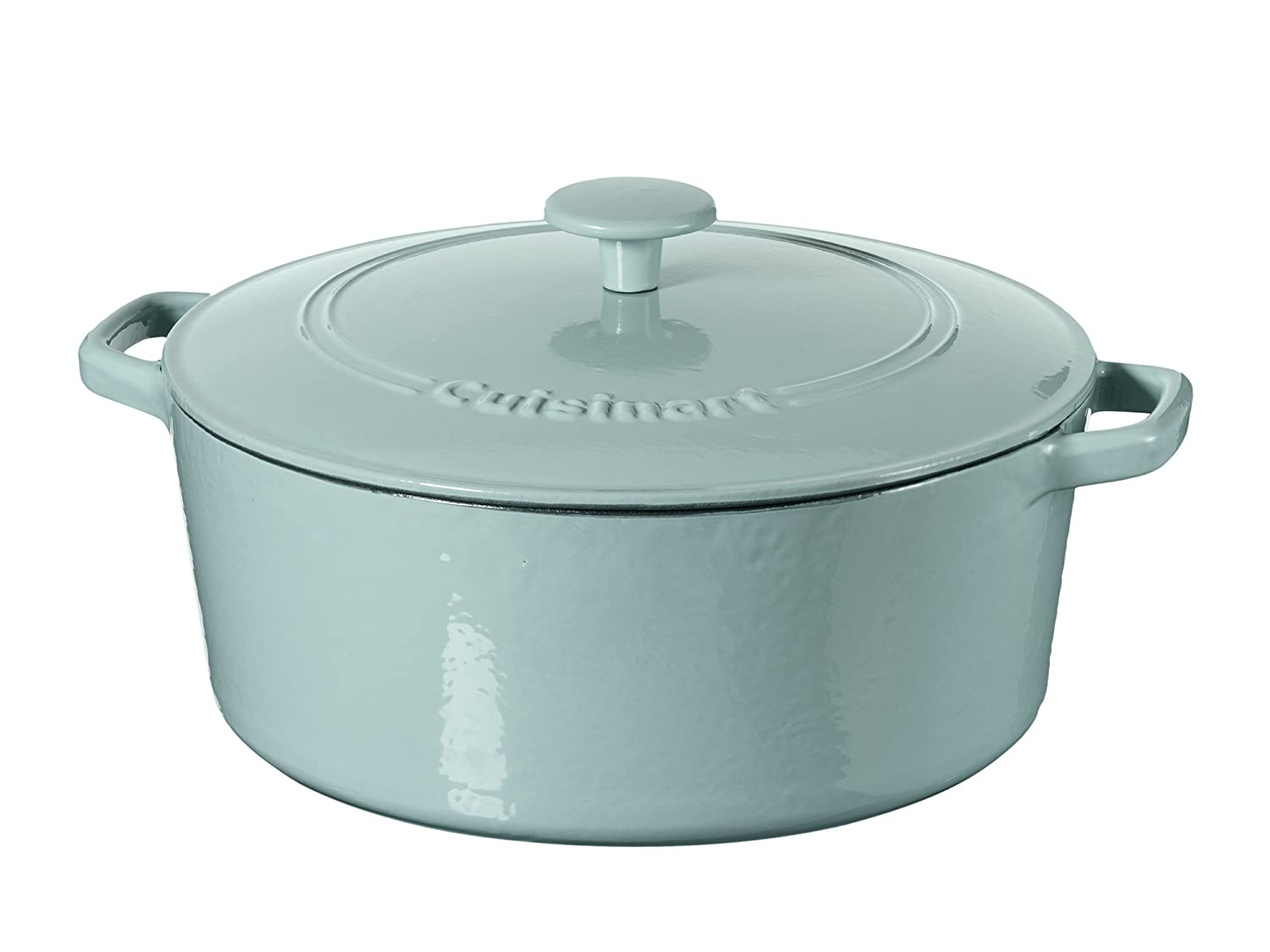Amazon.com: Cuisinart Casserole Cast Iron, Light Blue, 7 quart ...