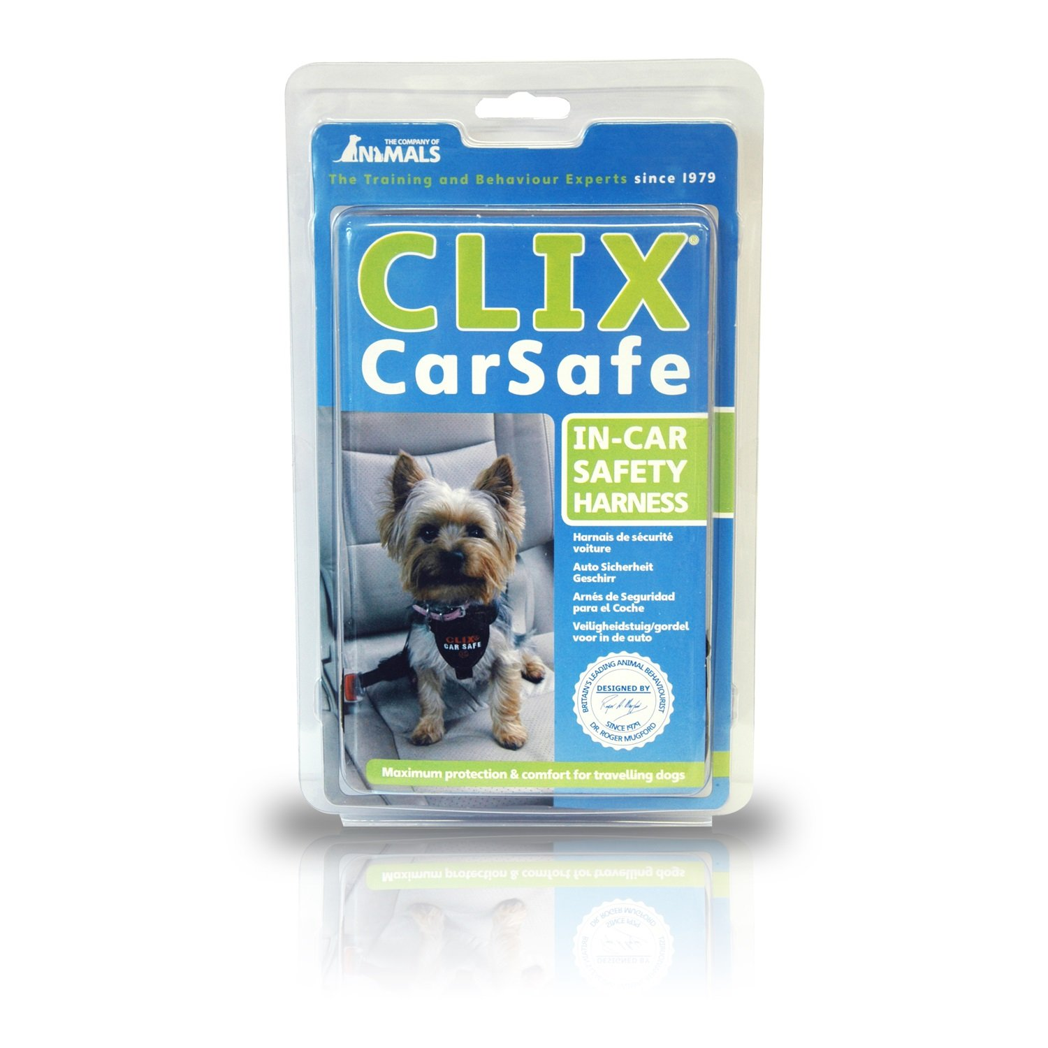 The Company of Animals - CLIX CARSAFE Dog Harness - Multi-Purpose Car Seat Belt and Walking Harness - Easy, Adjustable, Secure and Safe - X-Small