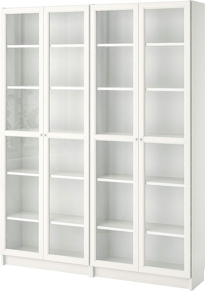 BILLY/OXBERG estantería 160x30x202 cm blanco/cristal: Amazon ...