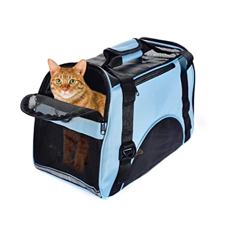 Transportin Perro Gato Bolsa Plegable para Viaje Aprobadas por la Compañía Aérea Operadora 42cm*20cm