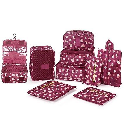 DOKEHOM 9 Cubos del Embalaje organizadores de Viajes ...