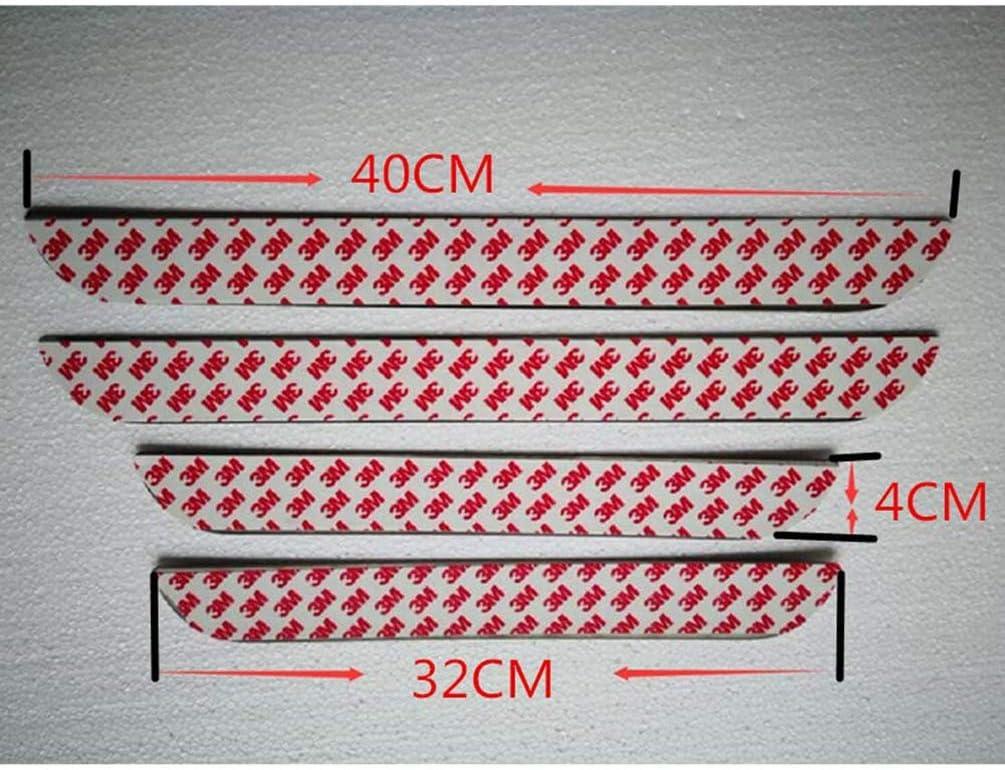 f/ür Peugeot 407 408 508 2008-2016 T/ürschweller Anti Scuff Schutzstreifen Dekoratives Trittplatten Car Styling Zubeh/ör HUAQIEMI 4Pcs Auto Edelstahl Einstiegsleisten Kick Plates