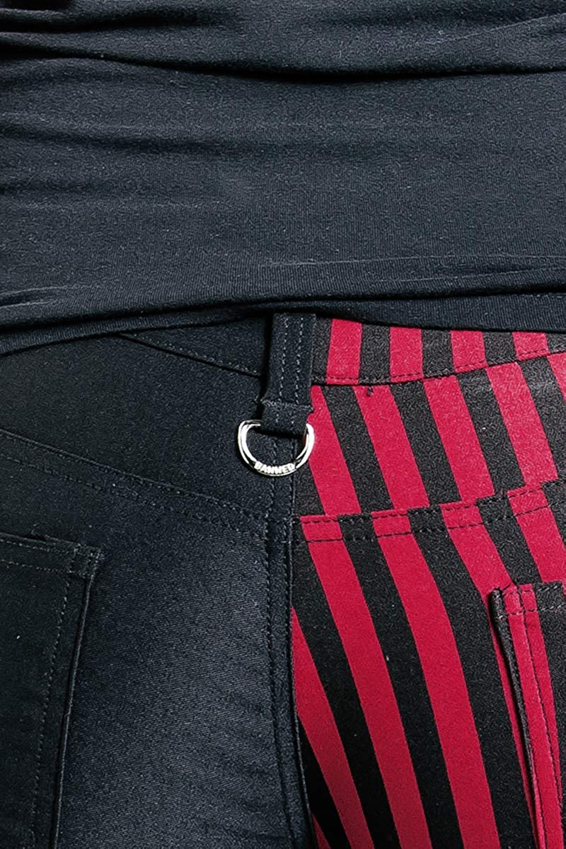 Banned Punk Trousers Girls Trousers Black-red