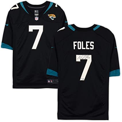 best website c6bc2 227cf Nick Foles Jacksonville Jaguars Autographed Nike Black Game ...