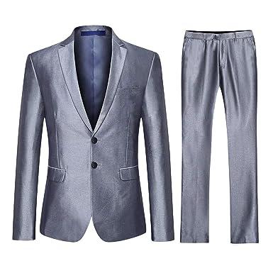 new concept dde9d 01c14 YOUTHUP Abito Uomo Elegante Completo Classico 3 Pezzi Slim Fit Blazer Gilet  Vestito Pantalone per Festa Cerimonia Matrimonio Affari