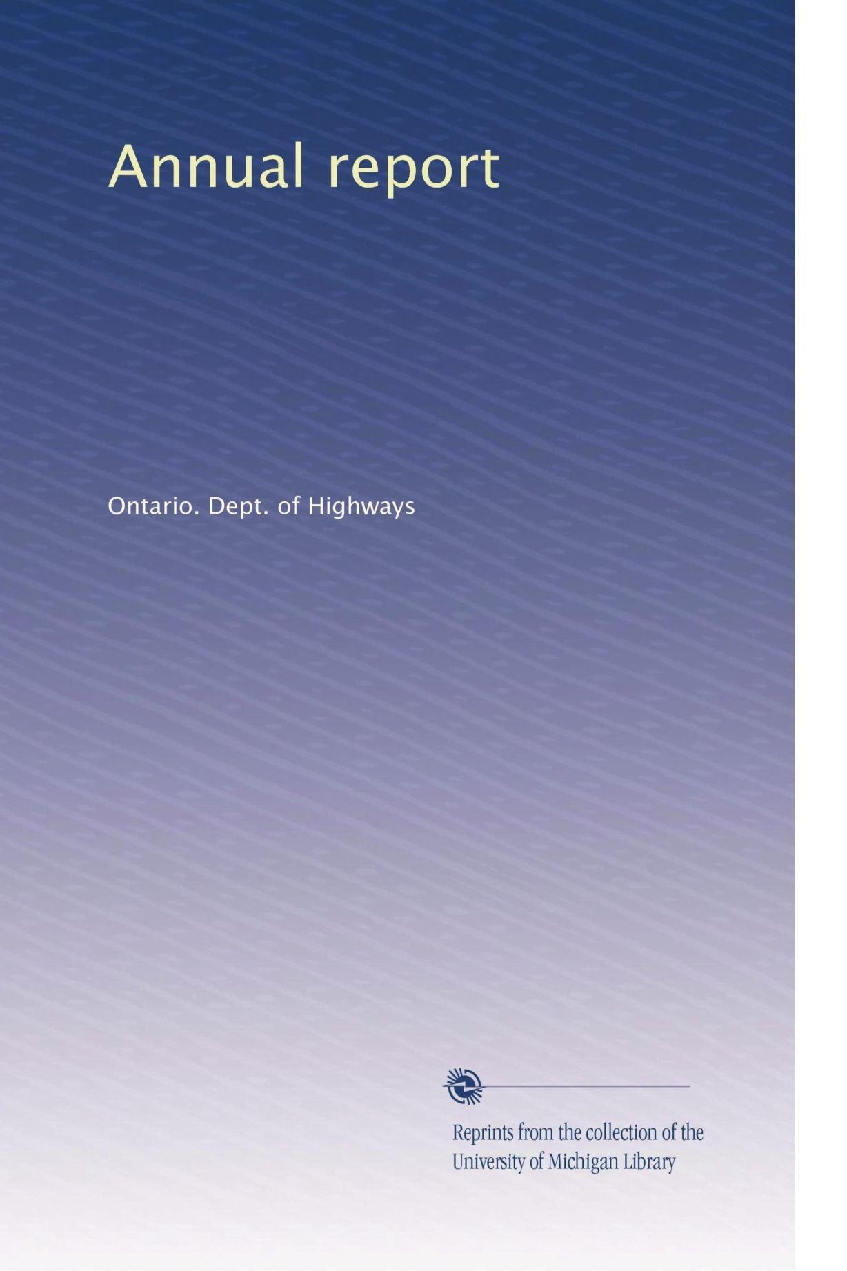 Download Annual report (Volume 3) ebook