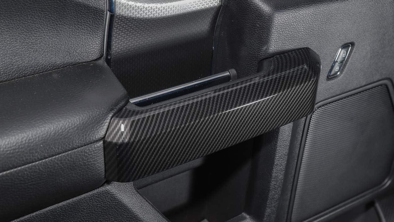 Co-Pilot Organizer Handles Decorative Cover Trim for Ford F150 2015+ F150 Carbon fiber ABS Car Co-Pilot Storage Box Handles Cover Trim,Car Interior Trim