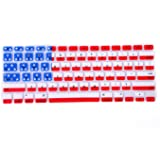 HDE Patriotic Silicone Rubber Keyboard Skin Cover for Macbook Air 13 and MacBook Pro 13 Retina (American Flag)
