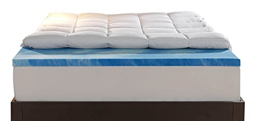Sleep Innovations 4-Inch Dual Layer Queen Mattress Topper